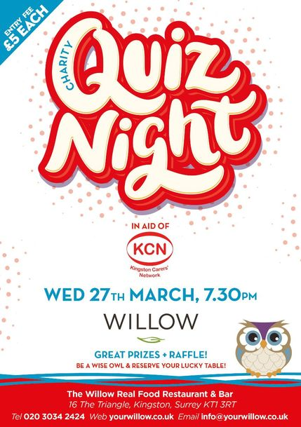 Charity Quiz Night for KCN - Kingston Carers Network